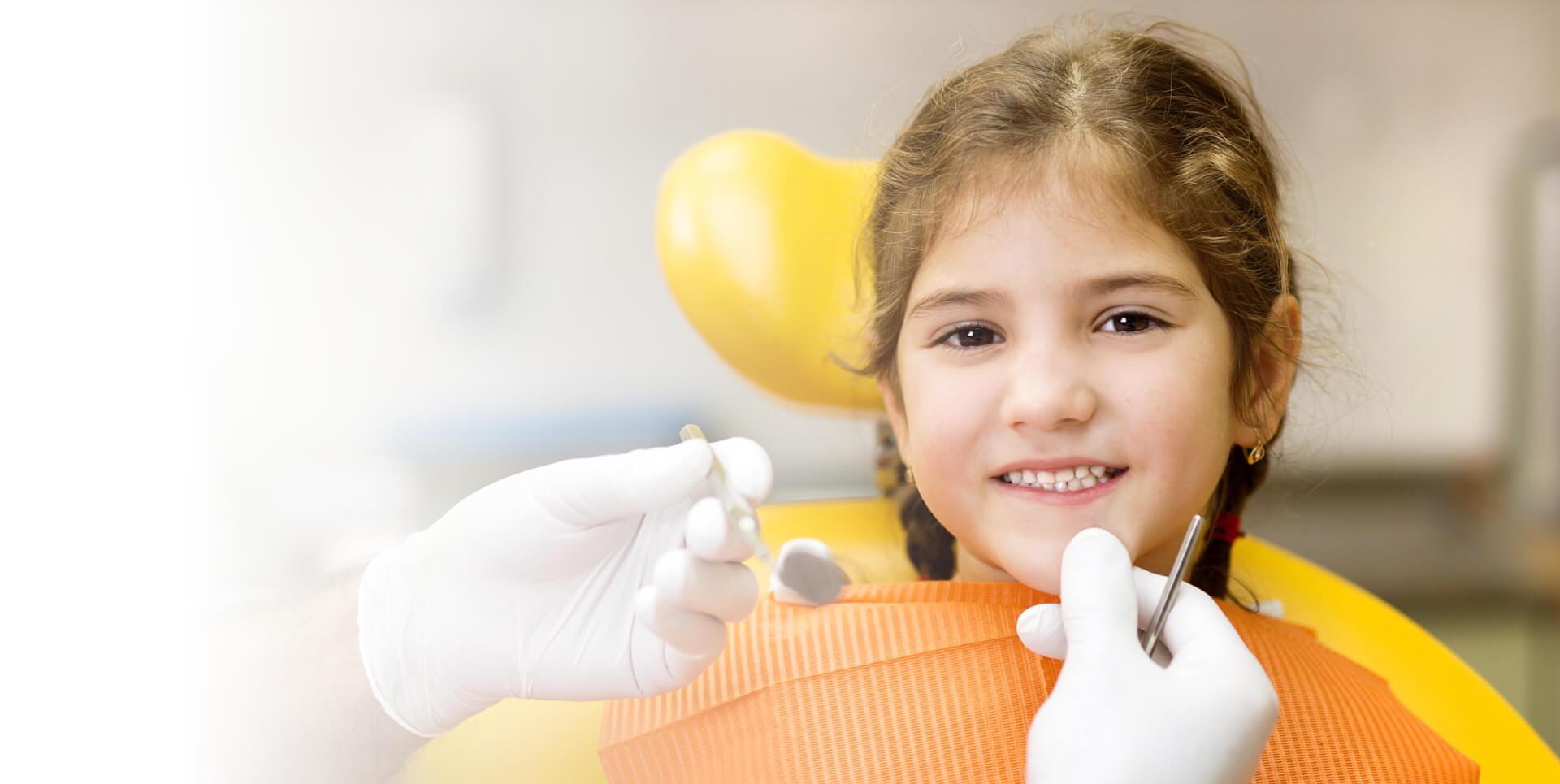 Girl teeth cleaning